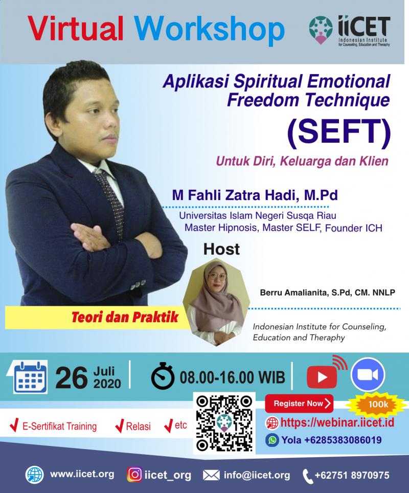 Virtual Workshop  'Aplikasi Spiritual Emotional  Freedom Technique  (SEFT)'